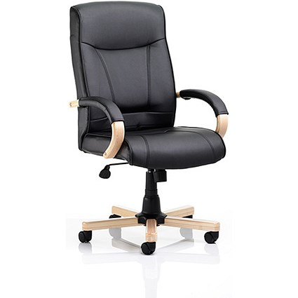 Finsbury Leather Executive Chair - Black