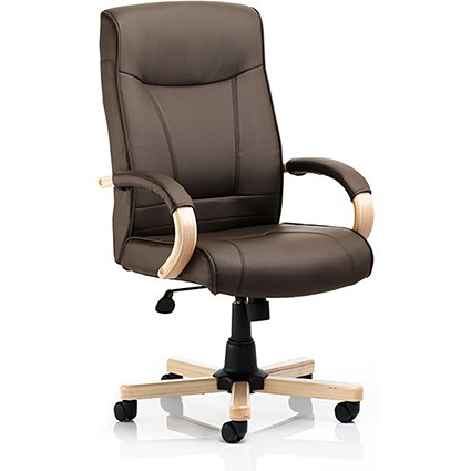Finsbury Leather Executive Chair - Brown