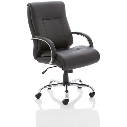 Heavy Duty Leather Chair - Black