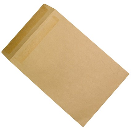 5 Star Plain C4 Envelopes / Manilla / Press Seal / 90gsm / Pack of 250