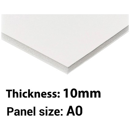 Foamboard / A0 / White / 10mm Thick / Box of 5