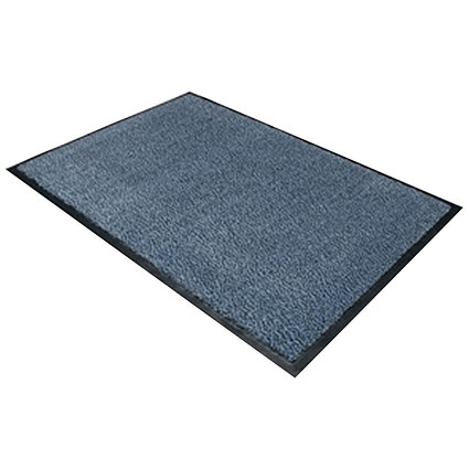Floortex Door Mat, Dust & Moisture Control, Polypropylene, 900mmx1500mm, Blue
