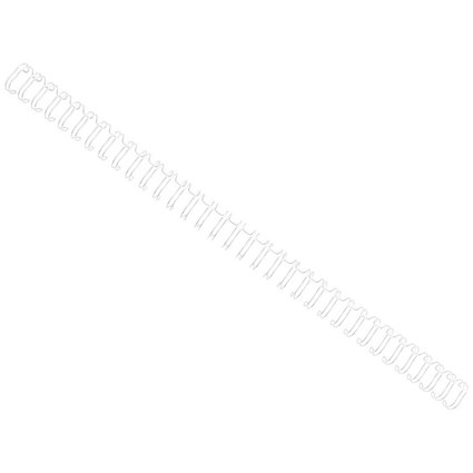 GBC Binding Wire Elements, 34 Loop, 9.5mm, White, Pack of 100
