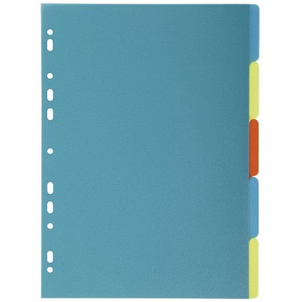 Exacompta Forever Recycled Plastic 5 Part Dividers A4