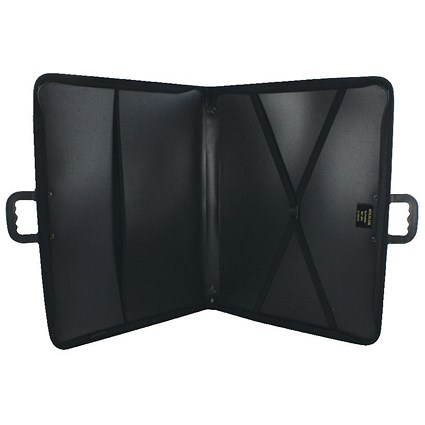 Goldline Zip Portfolio Lightweight Polypropylene A3 Black