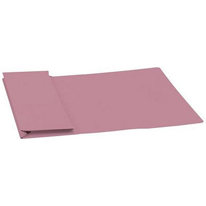 Guildhall Document Wallets Full Flap, 315gsm, Foolscap, Pink, Pack of 50