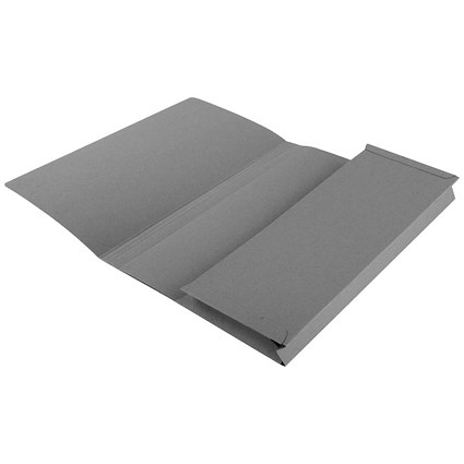 Guildhall Document Wallets Full Flap, 315gsm, Foolscap, Grey, Pack of 50