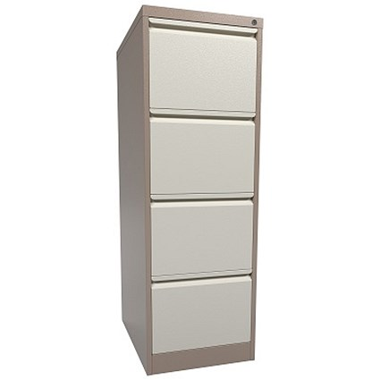 Graviti Contract Filing Cabinet / 4-Drawer / Foolscap / Coffee & Cream