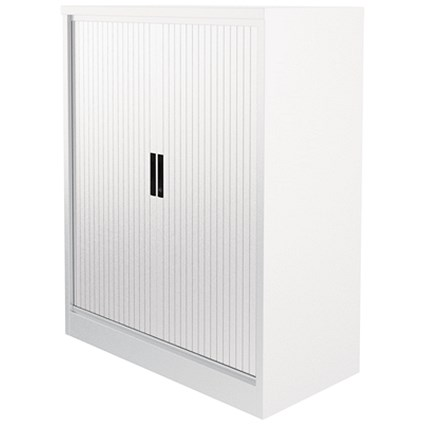 Graviti Plus Side Opening Tambour Cupboard, 1016mm High, Chalk White