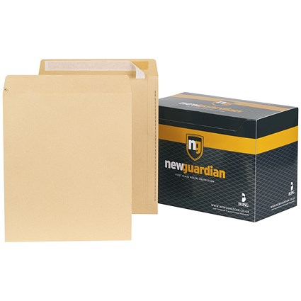 New Guardian Heavyweight Pocket Envelopes, 330x279mm, Manilla, Peel & Seal, 130gsm, Pack of 125