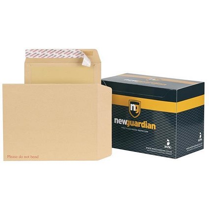New Guardian Board-backed Envelopes / 318x267mm / Peel & Seal / Manilla / Pack of 125