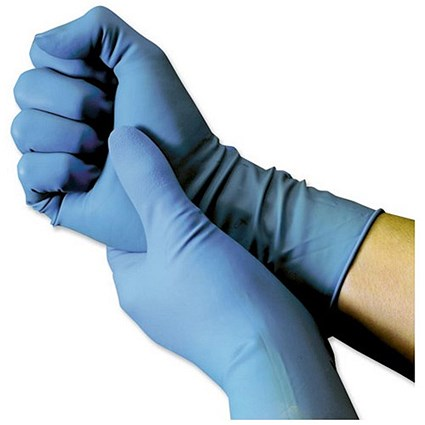 Shield Powder-Free Blue Nitrile Large Gloves (Pack of 100)