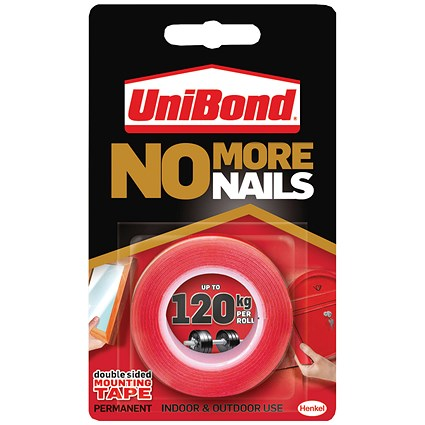 Unibond No More Nails Ultra Strong Roll Permanent 19mmx1.5m