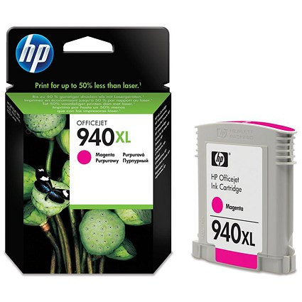 HP 940XL Magenta High Yield Ink Cartridge C4908AE