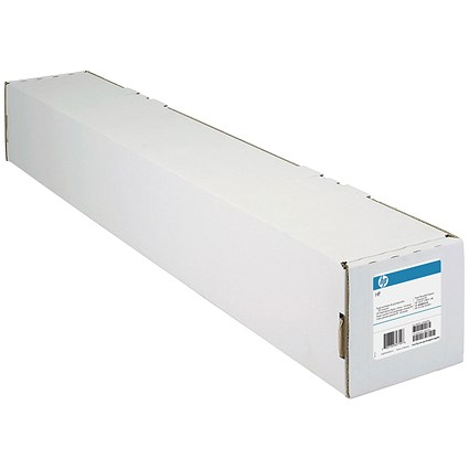 HP DesignJet Coated Paper Roll, 610mm x 45.7m, White, 90gsm, 24 inch