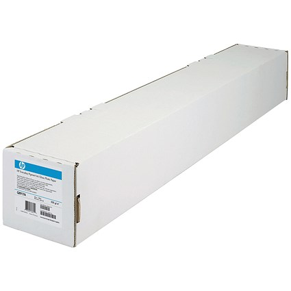 HP DesignJet Inkjet Paper Roll, 610mm x 45.7m, Bright White, 90gsm, 24 inch