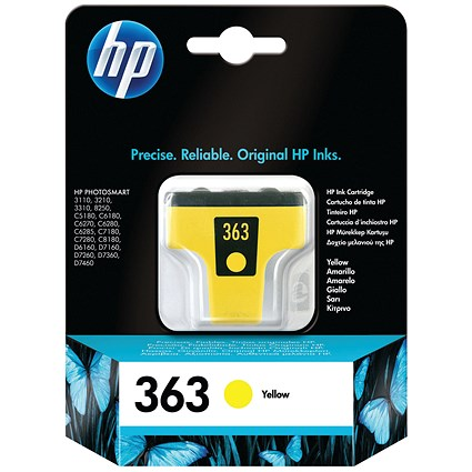 HP 363 Yellow Ink Cartridge C8773EE