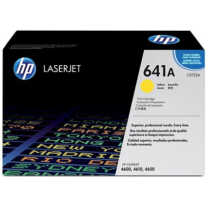 HP 641A Yellow Laser Toner Cartridge