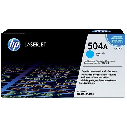 HP 504A Cyan Laser Toner Cartridge