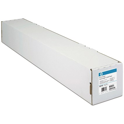 HP DesignJet Coated Paper Roll, 841mm x 45.7m, White, 90gsm