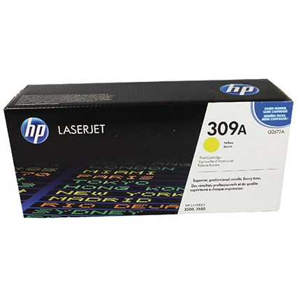 HP 309A Yellow Laser Toner Cartridge
