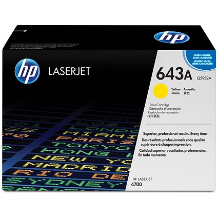 HP 643A Yellow Laser Toner Cartridge