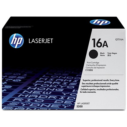 HP 16A Black Laser Toner Cartridge Q7516A