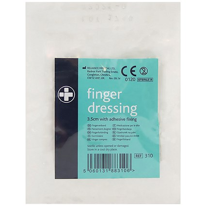 Reliance Medical Finger Dressing Adhesive Fixing 35mm (Pack of 10)