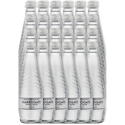 Harrogate Sparkling Water - 24 x 330ml Glass Bottles