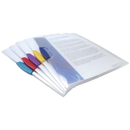 Rapesco A4 Pivot Clip Files / Assorted / Pack of 5