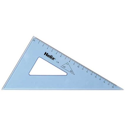 Helix Set Square 21cm 60 Degree / Clear / Pack of 25