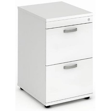 Impulse Filing Cabinet / 2-Drawer / Foolscap / White