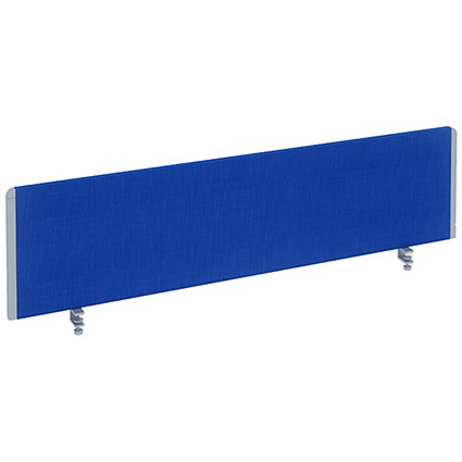 Impulse Straight Screen, 1600mm Wide, Blue