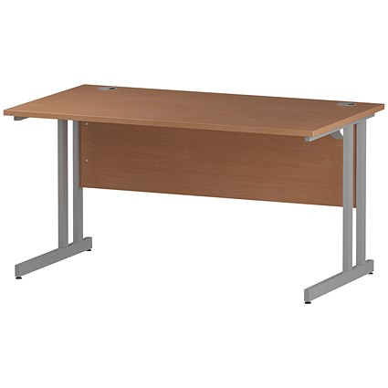 Impulse Rectangular Desk, 1400mm Wide, Beech