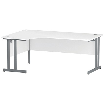 Impulse Corner Desk / Left Hand / 1800mm Wide / White