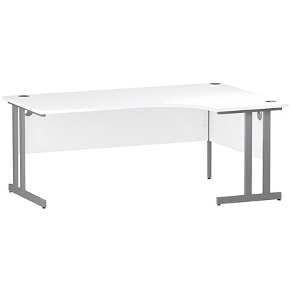 Impulse Corner Desk, Right Hand, 1800mm Wide, White