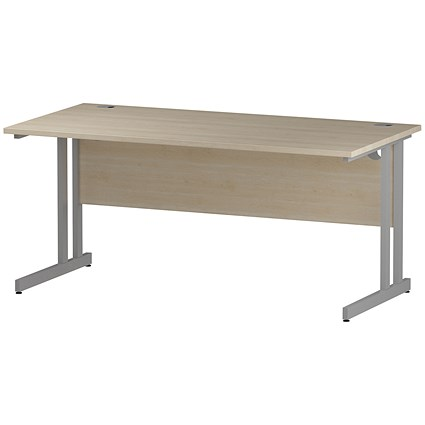 Impulse Rectangular Desk, 1600mm Wide, Maple