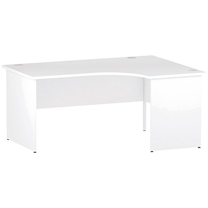 Impulse Panel End Corner Desk, Right Hand, 1600mm Wide, White