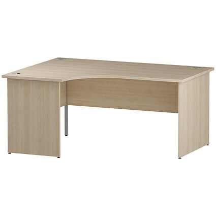 Impulse Panel End Corner Desk / Left Hand / 1600mm Wide / Maple