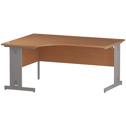 Impulse Plus Corner Desk, Left Hand, 1600mm Wide, Beech
