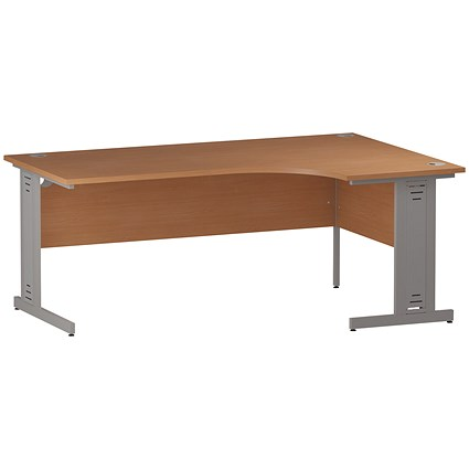 Impulse Plus Corner Desk, Right Hand, 1800mm Wide, Beech