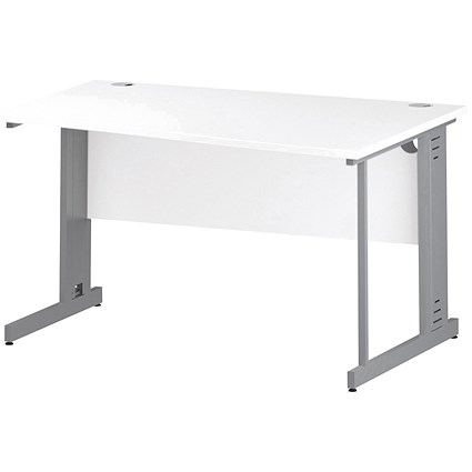 Impulse Plus Wave Desk, Right Hand, 1400mm Wide, White