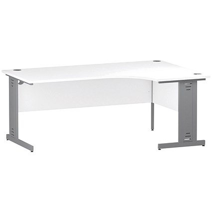 Impulse Plus Corner Desk, Right Hand, 1800mm Wide, White