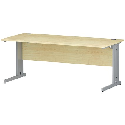 Impulse Plus Rectangular Desk / 1800mm Wide / Maple