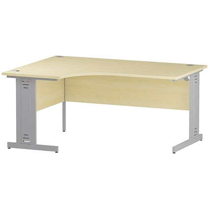 Impulse Plus Corner Desk, Left Hand, 1600mm Wide, Maple
