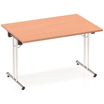 Impulse Folding Rectangular Table / 1200mm Wide / Beech