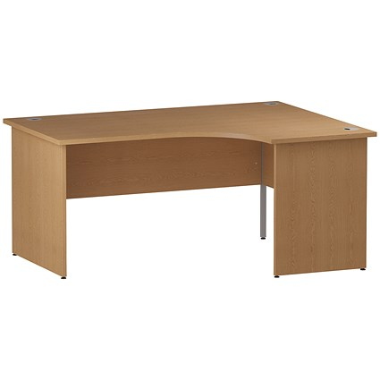 Impulse Panel End Corner Desk, Right Hand, 1600mm Wide, Oak