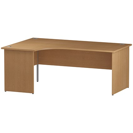 Impulse Panel End Corner Desk, Left Hand, 1800mm Wide, Oak