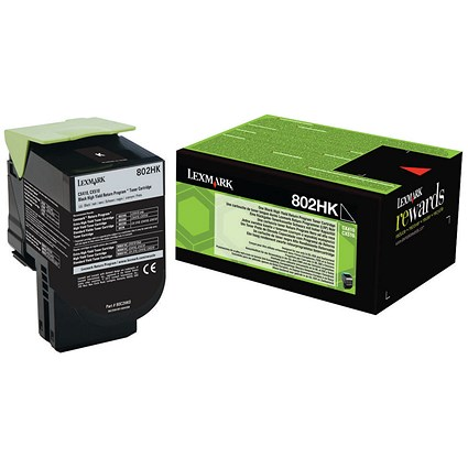 Lexmark 802HK High Yield Black Laser Toner Cartridge
