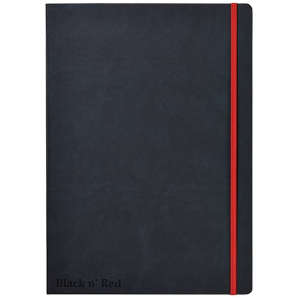Black n' Red Casebound Notebook, A4, Ruled & Numbered, 144 Pages